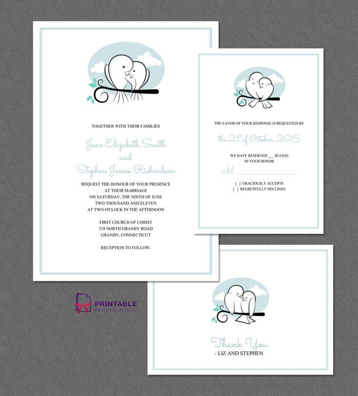 Printable Wedding Invitation Sets: 201 Best Images About Wedding Invitation Templates (free
