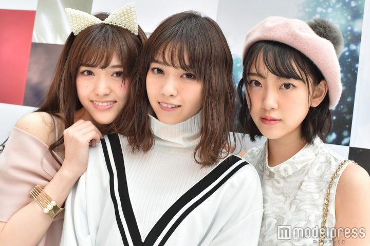 左から:モデルプレスのインタビューに応じた松村沙友理、西野七瀬、堀未央奈 (C)モデルプレス