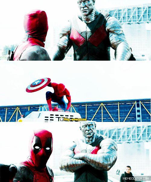 RPG, manga , quadrinhos , cultura em geral: E se homem aranha aparece se no filme do deadpool
