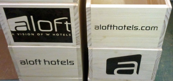 W Hotels Custom Aloft Wine Crates for Live in the Vineyard - Napa Valley