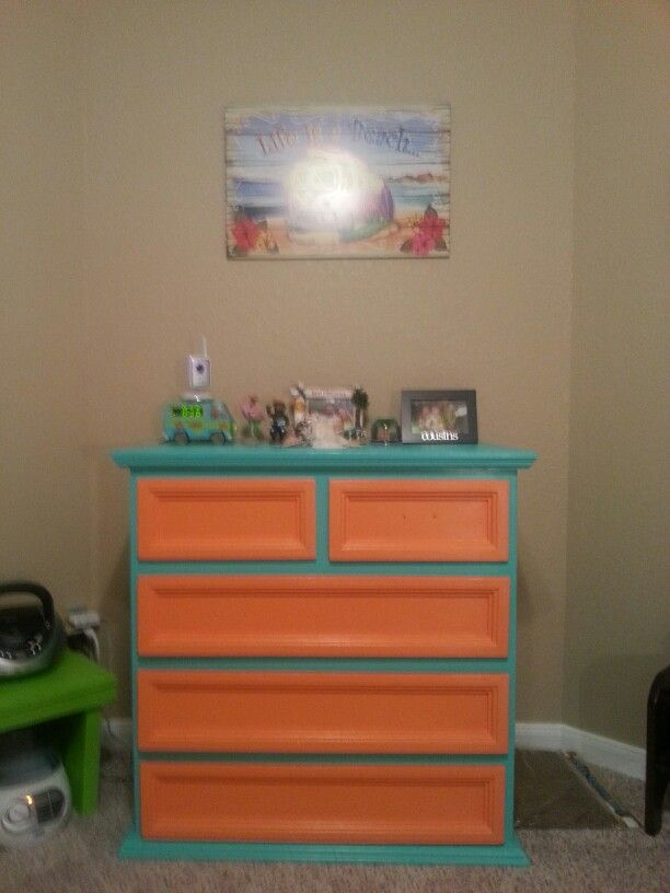 Scooby Doo Room   Dresser. Paint Book Shelves This Color