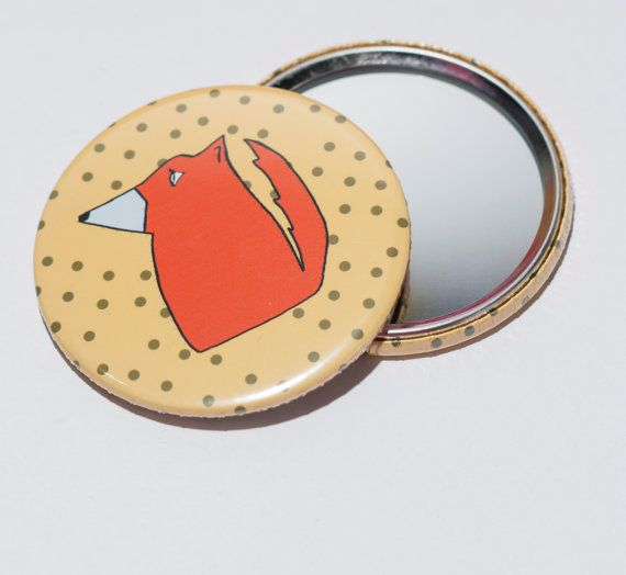 Handmade pocket mirror  unique design  your by Theordinarydiary