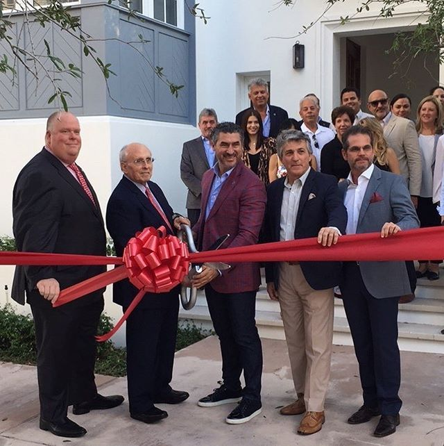 Today we held a ribbon cutting ceremony for our boutique townhouse community, 444 Valencia! A huge thank you to  Mayor Raul Valdes-Fauli, Mark Trowbridge of the @gableschamber and Venny Torre of @torrecompanies!  444 Valencia, distinguishes itself through striking design elements in each residence. Designed by Nelson de Leon at @locusarchitecturemiami , a well-recognized Coral Gables-based architecture firm, 444 Valencia consists of three- and four-bedroom, three-story units that are…
