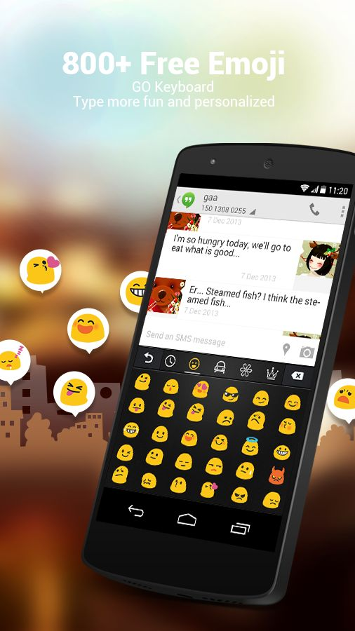 800 FREE #emojis and smileys of all colors, shapes and sizes? Yeah, you read that right!  Upgrade your regular smiles, winks and duh' s with the millennial-friendly emoji-packed GO Keyboard! #musthave