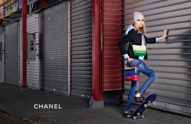 Cara Delevingne stars in Chanel Gabrielle handbag campaign