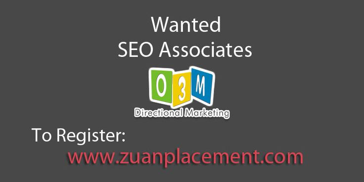 Referral Walkin Drive for #SEO Assosiate by Zuan Placement Company Name: O3M Digital Marketing Pvt Ltd Wanted: SEO Associate Experience: 1- 3 years Criteria: Must have experience on real time projects For Complete Job information, register below: http://goo.gl/WoPOVf  #SEOCareer #SEOInterview #SEOJobs #Interview #Digitalmarketing #Jobs