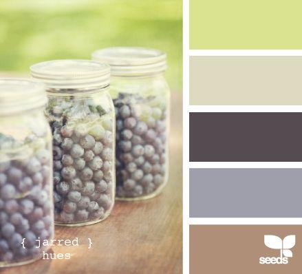 jarred hues: Color Palettes, Design Seeds, Color Inspiration, Color Schemes, Color Combos, Living Room, Paint Colors