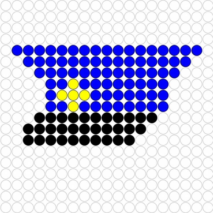police cap hama perler beads