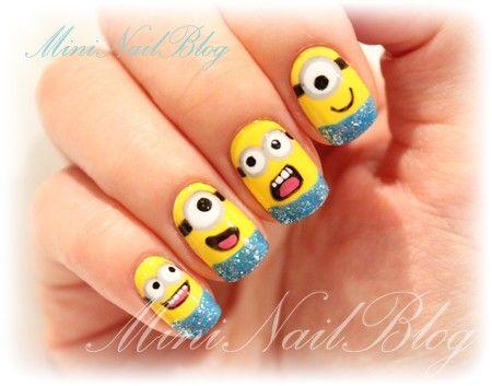 Minion nails!!Nails Art, Nails Design, Makeup, Beautiful, Minion Nails, Nails Ideas, Despicable Me, Hair, Minions Nails