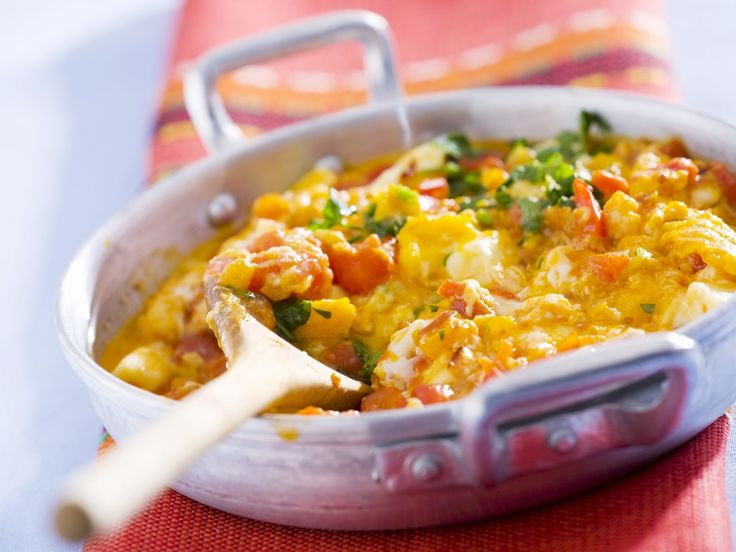 Rühreier mit Tomaten und Paprika - smarter - Zeit: 20 Min.   eatsmarter.de Yummy!!!