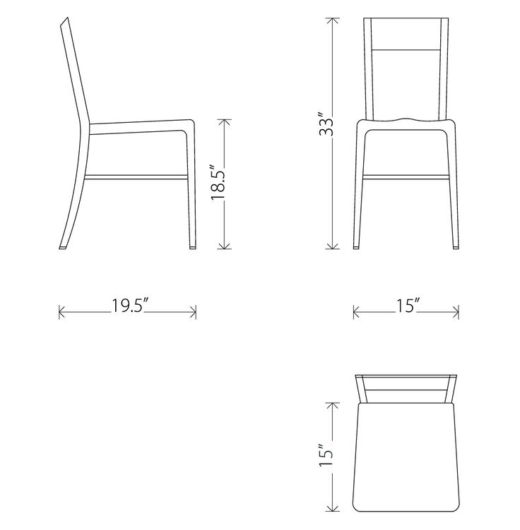 Aluminum Dining Chair Wooden Kitchen, Dining Room Chair Seat Dimensions
