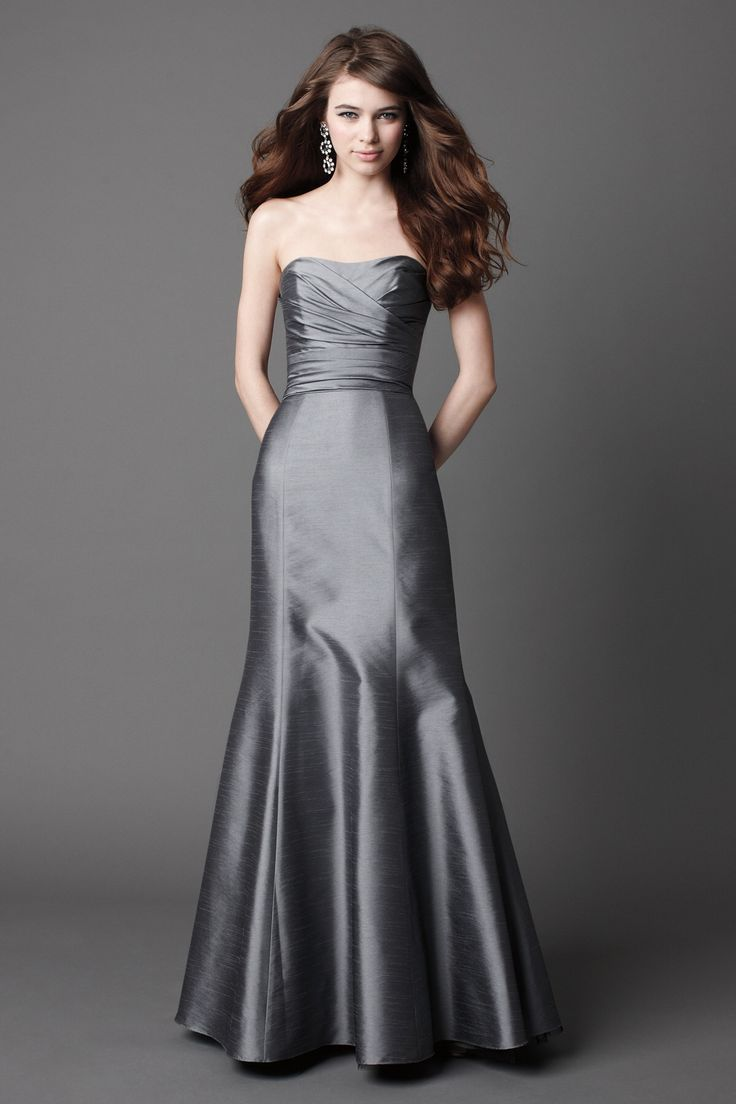 123 best bridesmaids images on pinterest bridesmaids special glamorous sleeveless trumpet mermaid bridesmaid dress in silver gray ombrellifo Gallery