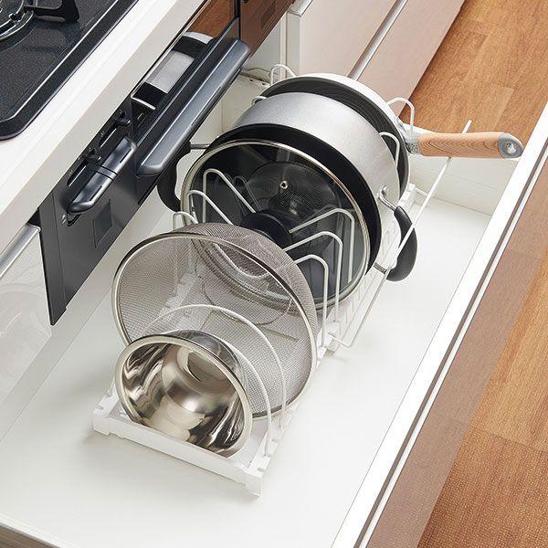 ニトリ ざるボウルフライパンスタンド Zf 540 通販 キッチン 収納 シンク下 インテリア 家具 ニトリ