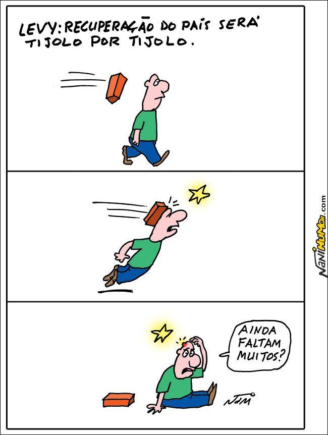 Nani Humor: LEVY: RECUPERAÇÃO DO PAÍS SERÁ TIJOLO POR TIJOLO.