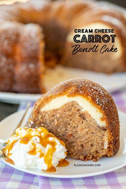 Cream Cheese Carrot Bundt Cake
