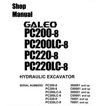 Komatsu PC200-8, PC200LC-8, PC220-8, PC220LC-8 Galeo