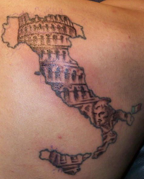 Italian Tattoo ~ a bit big and gawdy but for some reason I do like it