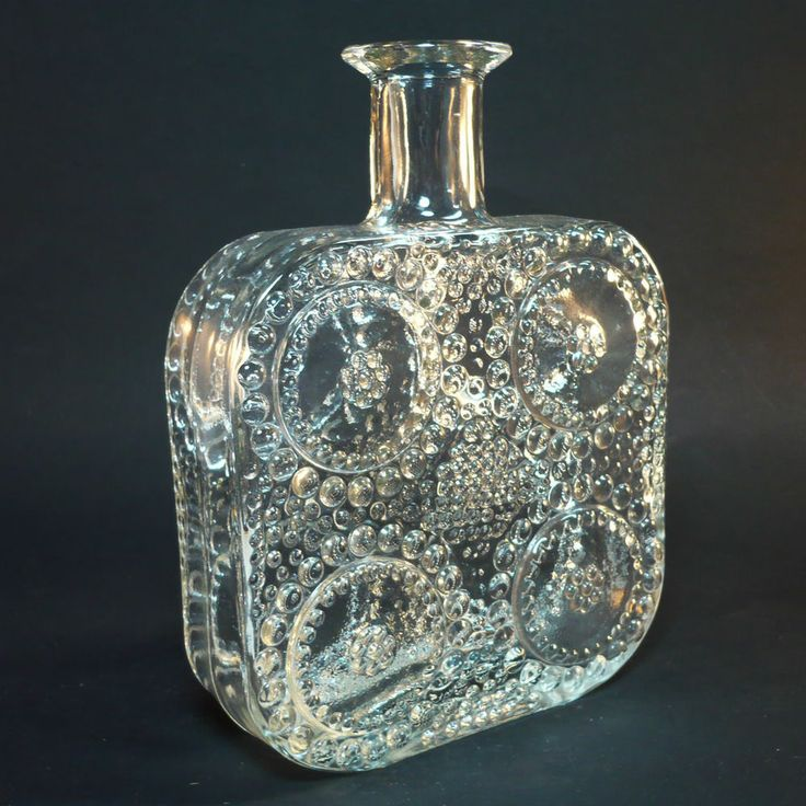 "Glas Vase ""Grapponia"" • design NANNY STILL • Riihimaki/ Riihimäen Lasi"