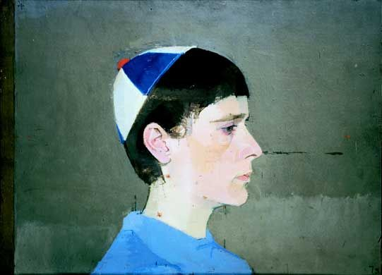 Euan Uglow, Girl's Head in Profile with Cap On, 1963 - 64