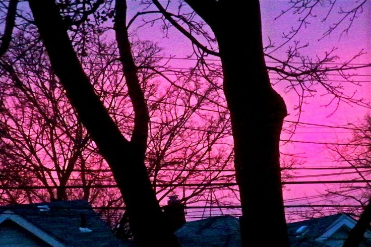 Thought this was cool #pink #purple #sky