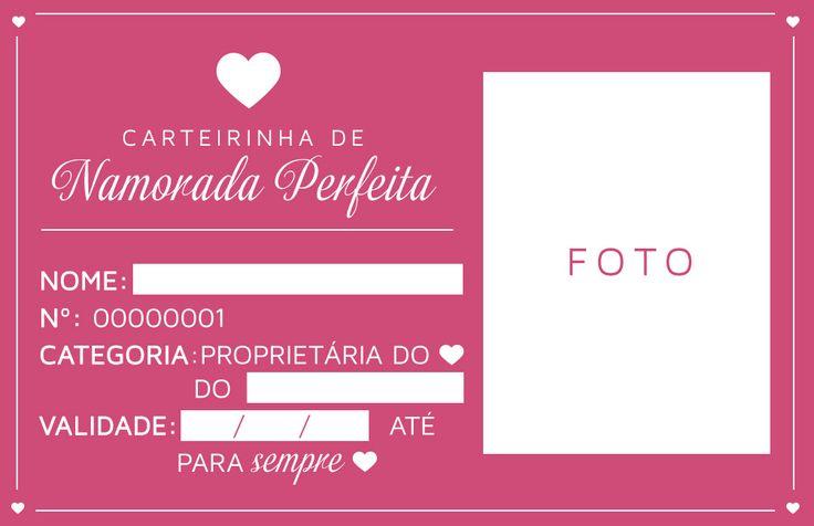 Carteirinha de namorada perfeita! #namoro #carteira #compromisso