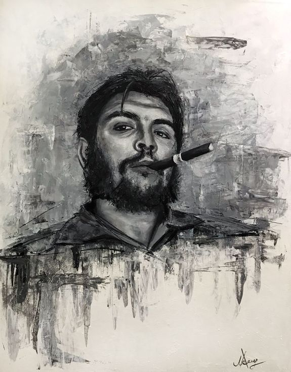 """Buy """"Comandante"""" Che Guevara oil painting, Oil painting by Leysan Khasanova on Artfinder. Discover thousands of other original paintings, prints, sculptures and photography from independent artists."""