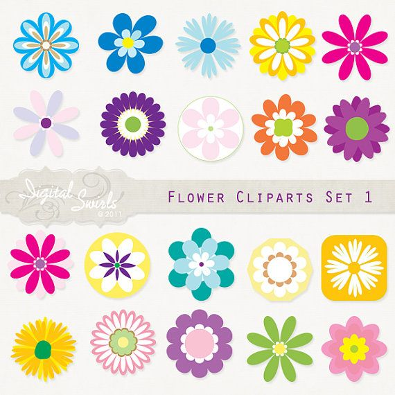Flower Cliparts Set 1
