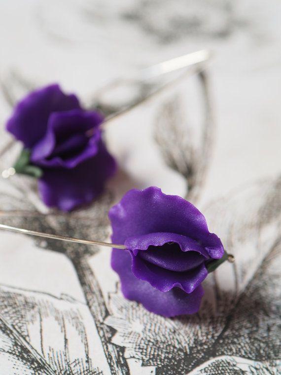 Violet siererwten handgemaakte polymeer klei van Segitanna op Etsy