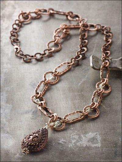 Copper & Silver Chain Necklace