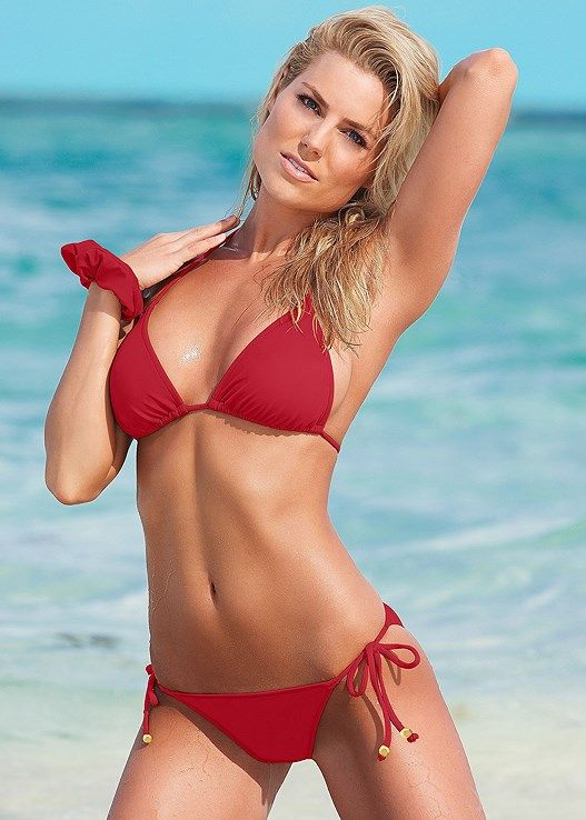 cf34aff563b5e Venus Women s Adjustable Side String Moderate Bikini Swimsuit Bottoms -  Red