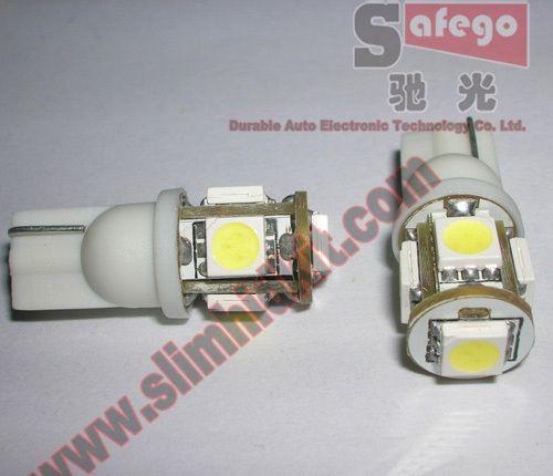 High Bright 1000pcs t10 5smd 5050 W5W 168 921 led t10 wedge car led dome light led dome free ship