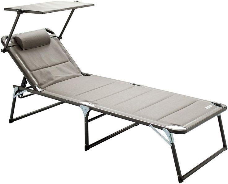 Amazon De Meerweh Aluminium Gartenliege Xxl Mit Dach Dreibeinliege Gepolstert Mit Quick Dry Foam Sonnenliege Grau 200 Sonnenliege Gartenliege Dreibeinliege