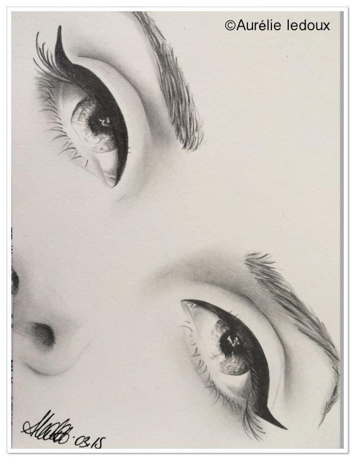 """tableau boudoir """"regarde moi"""" au crayon graphite... : Dessins par aurelie-ledoux"""