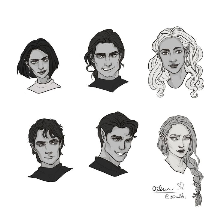 "oibun: ""Some Courtly headshots to make up for my forever-ness in working on the cassian/nesta piece. """