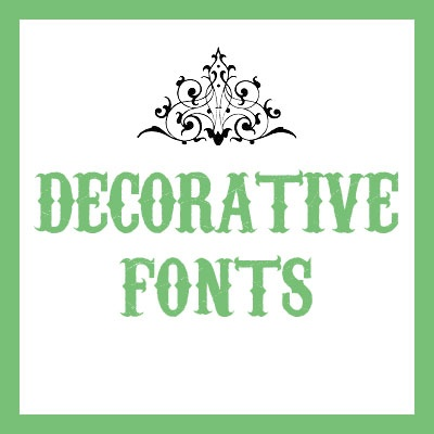 cover for examples of decorative fonts - Decorative Fonts