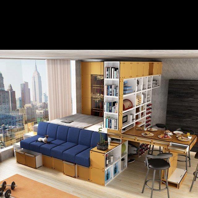 Idea for tiny room :))