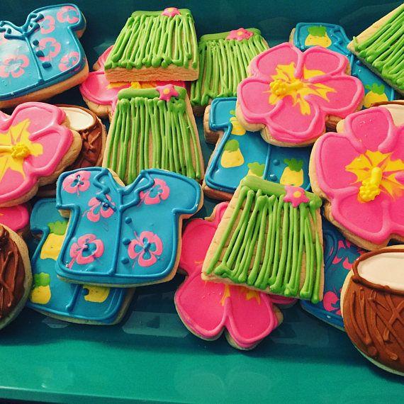 Best 25+ Luau Cookies Ideas On Pinterest