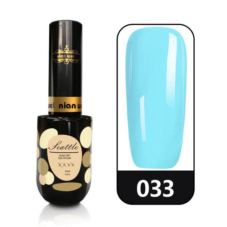 N.W MOKA 15ML  UV Led Gel Polish Salon Blue Color UV Nail Gel Polish NaiL Art Design Hot Sale Nail Gel Lacquer Long Lasting Gel