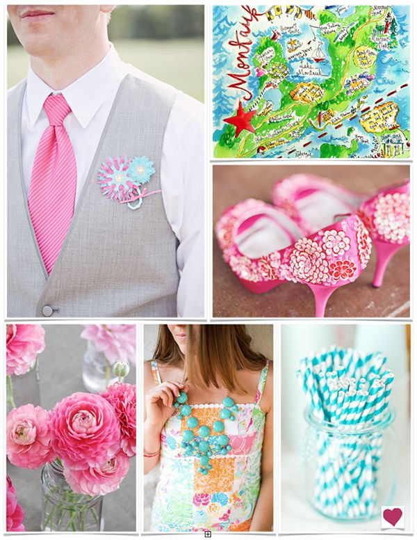 A very preppy wedding inspiration board filled with colors inspired by Lilly Pulitzer!  My Website //www.simplycoutureweddings.com
