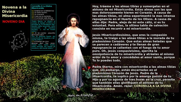 3 Hail Marys: NOVENO DIA de la novena a la Divina Misericordia