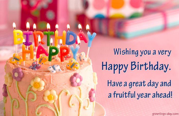 Happy B'Day Cake - http://greetings-day.com/happy-bday-cake.html