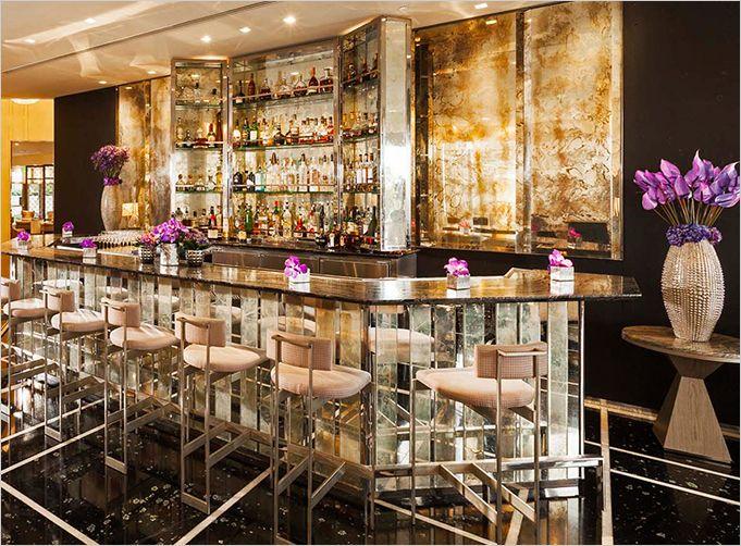 Art Deco mirror mirror on the wall Bar Restaurant Lounge design Rue Magazine Interior Design & architecture Space inspiration ;) KARINApowpow