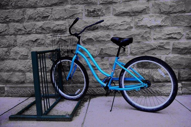 """""""Townie Bike Crested Butte Colorado"""" #crestedbuttecolorado #crestedbuttecolors #colorpop #memorspiritus"""