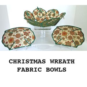 Christmas Wreath Fabric Bowls