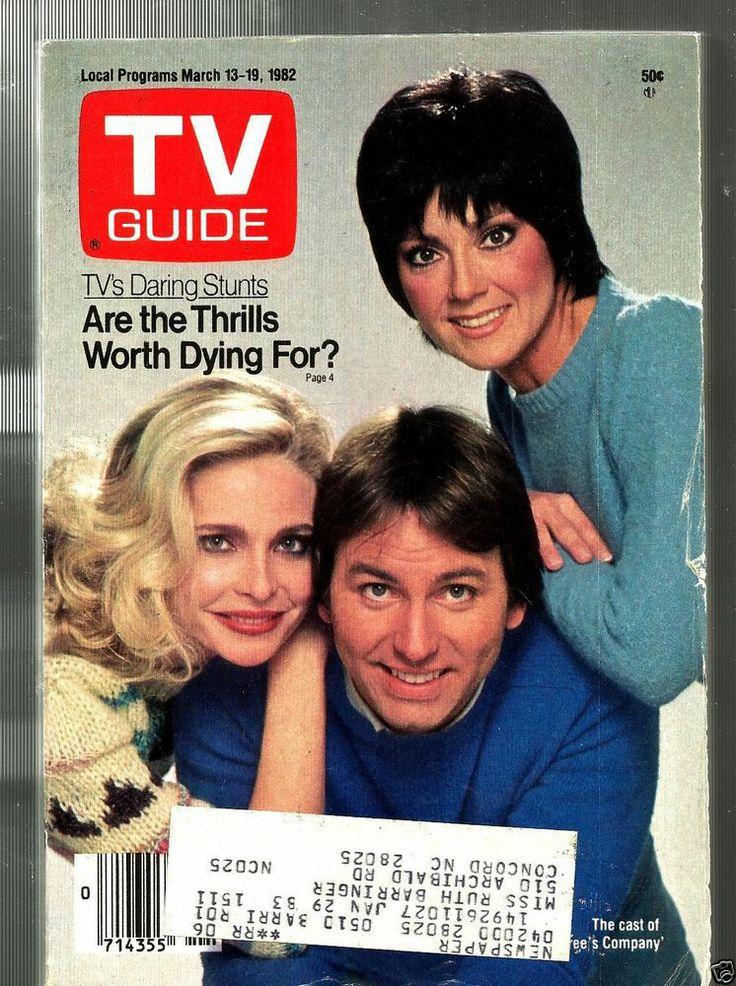 TV GUIDE-3/82-THREE'S COMPANY-JOHN RITTER-JOYCE DEWITT-PRISCILLA BARNES-BURNETT