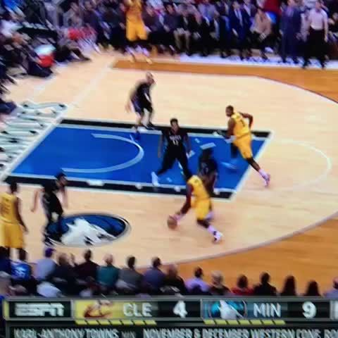 Kyrie Irving crosses Andrew Wiggins and scores! #CavsNation #Cavs #Wolves #NBA