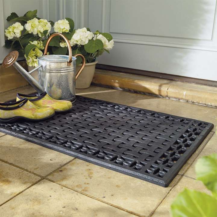 lattice rubber entry mat front door mats doors and classic. Black Bedroom Furniture Sets. Home Design Ideas