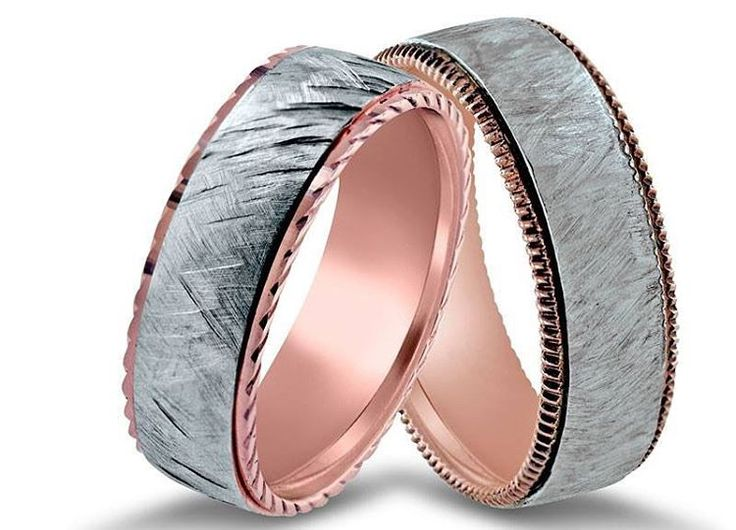 Looking for an original wedding band? Copper creates pink and rose tones in gold. The more the copper, the deeper will be the color. Rose gold is available in 18kt or 14kt, but the color may be stronger with 14kt alloys. 44 Main Street #ClintonNJ