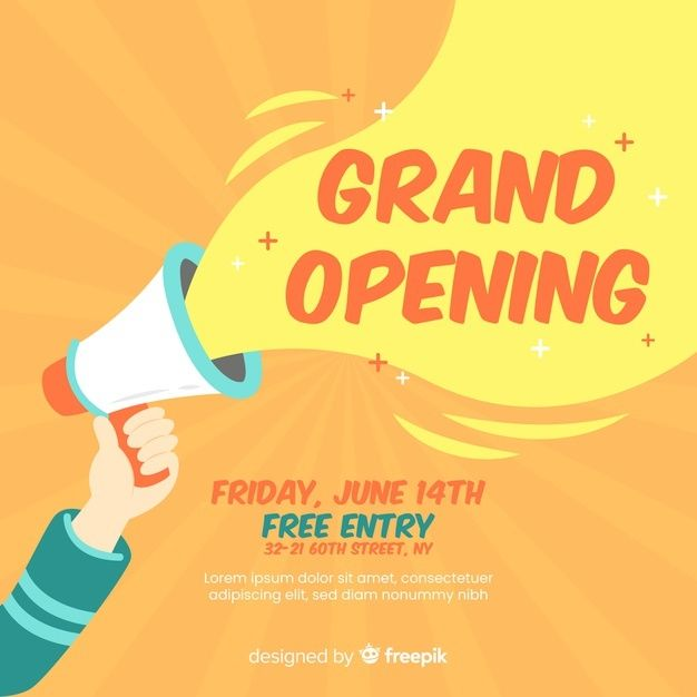 Download Grand Opening For Free In 2020 Poster Design Software Grand Opening Poster Design Layout