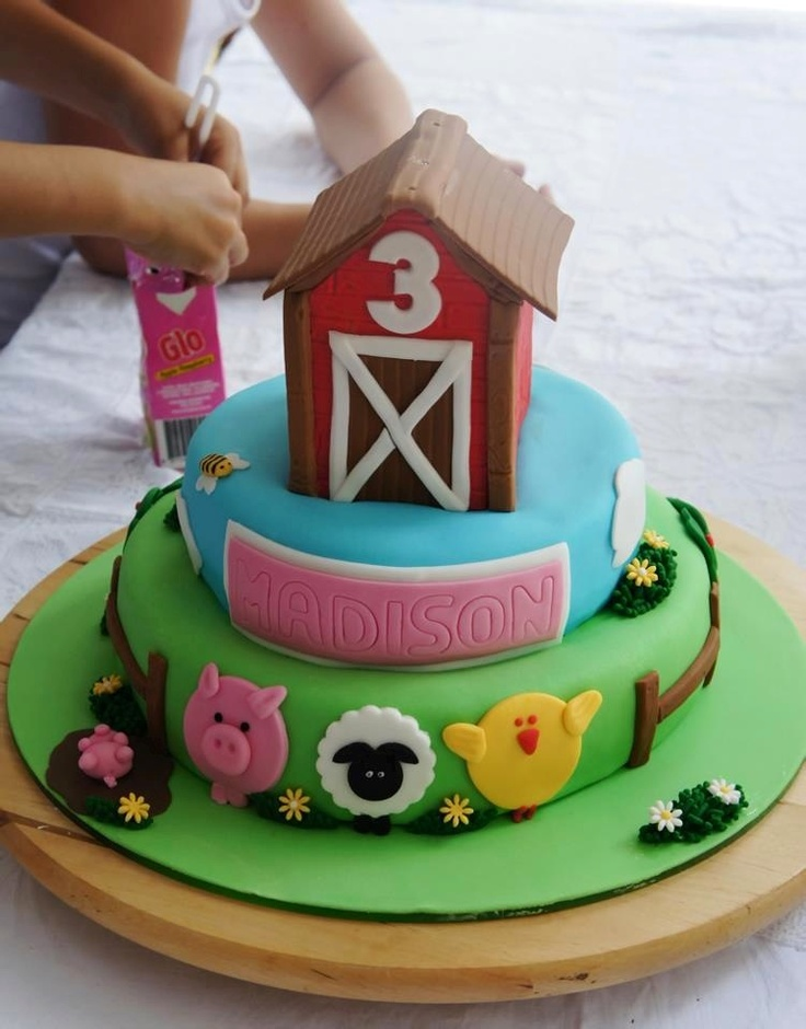Farm Cakes For First Birthday